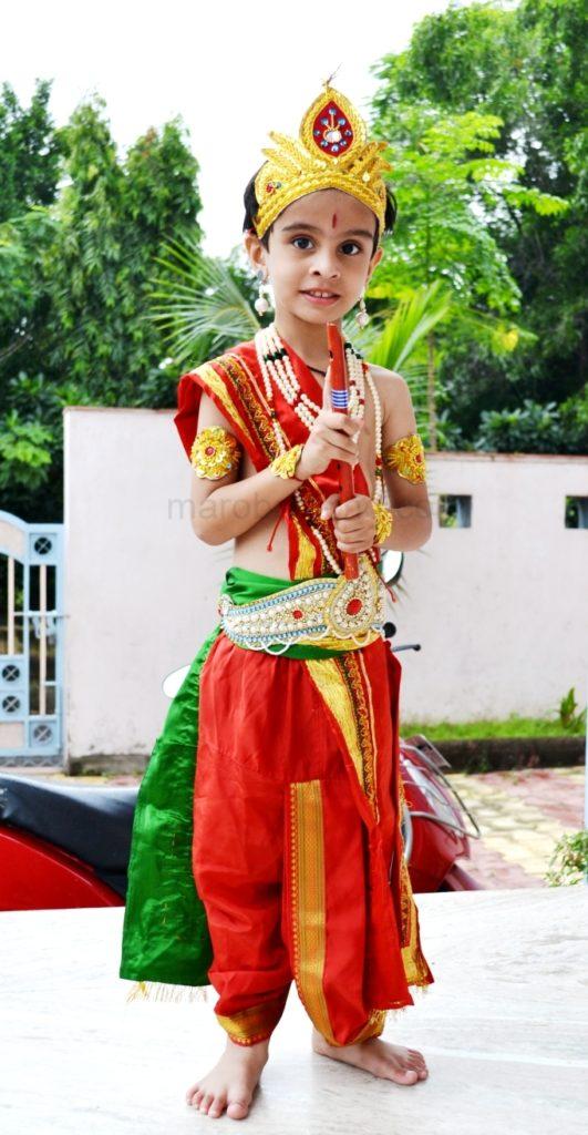 જન્માષ્ઠમીના કાનુડાના અવતારમાં વ્રજનો ફોટો. Vraj as Little Krishna